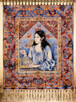 """DANA'S TAPESTRY"", Water Color & 23K Gold Leaf on Paper, 30""x22"", 1979"