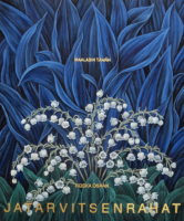 """Flora in Blue and White: """"FINNISH"""", (Small), Oil & 23K Gold Leaf on Linen, 24""""x20"""", 2020"""